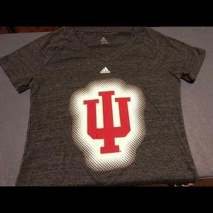 adidas Indiana Hoosiers NCAA Women's L T-Shirt